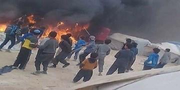جانباختن حداقل 7 نفر در آتش سوزی اردوگاه الهول در سوریه