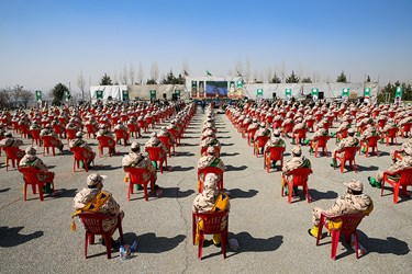 سربازان حاضر در مراسم اختتامیه سیزدهمین جشنواره جوان سرباز