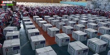 توزیع 2500 بسته غذایی و بهداشتی وزارت کار به زلزلهزدگان سیسخت/تصاویر+ فیلم