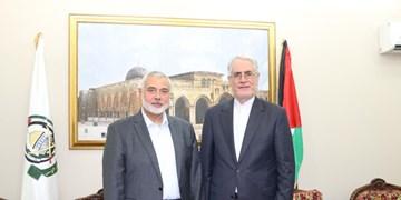 سفیر ایران در قطر در دیدار با اسماعیل هنیه بر حمایت از فلسطین تأکید کرد