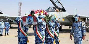 تشییع پیکر خلبان شهید  بیکمحمدی