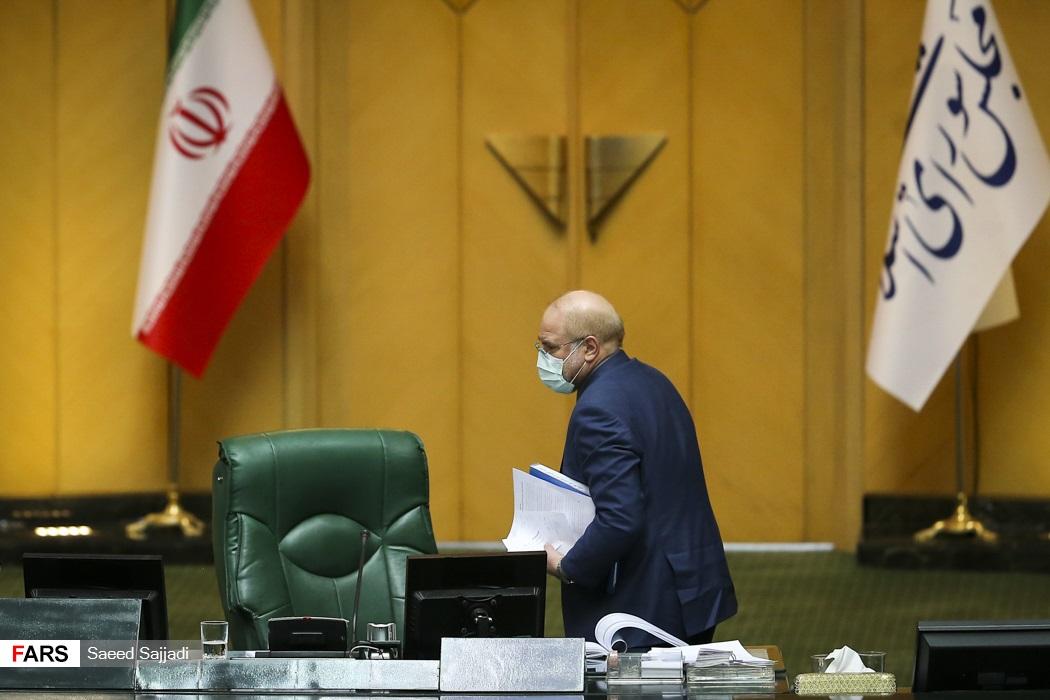 محمدباقر قالیباف رئیس مجلس شورای اسلامی در پایان جلسه علنی مجلس   12 اسفند 99