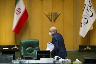 محمدباقر قالیباف رئیس مجلس شورای اسلامی در پایان جلسه علنی مجلس | 12 اسفند 99