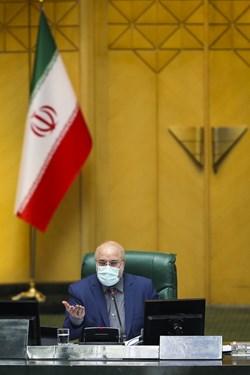 محمدباقر قالیباف رئیس مجلس شورای اسلامی در  جلسه علنی مجلس | 12 اسفند 99