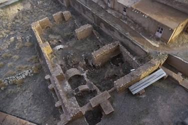 بقایای ارگ سلطانیه در جوار گنبد سلطانیه