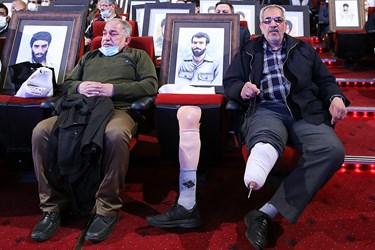 جانبازان و ایثارگران حاضر درمراسم یادواره ستارگان دوکوهه