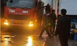 مهار آتشسوزی گسترده کشتارگاه طیور در لوشان پس از ۲ ساعت