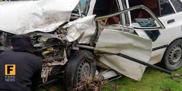 برخورد شدید دو خودرو  در محور دیواندره به سقز حادثه آفرید/ ۸ نفر زخمی شدند