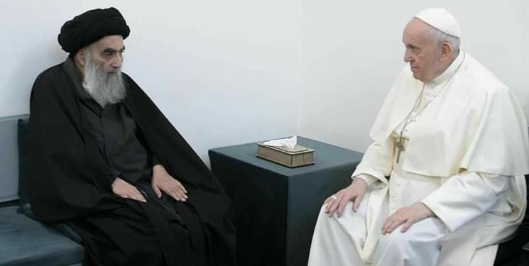 آخرین میخ بر تابوت عادیسازی روابط با تلآویو در دیدار آیتالله سیستانی و پاپ