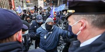 ترامپ همچنان دردسرساز؛ درگیری طرفداران و مخالفان ترامپ در «منهتن»+تصاویر