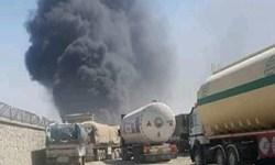 آتش سوزی گمرک «فراه» در مرز افغانستان با ایران