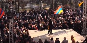 تجمع دوباره مخالفان نخستوزیر ارمنستان در ایروان