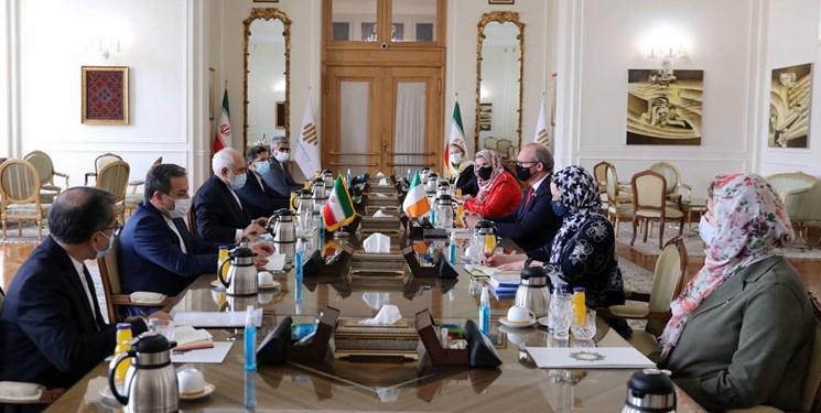 وزیر خارجه ایرلند با ظریف دیدار کرد