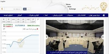 رشد 5860 واحدی شاخص بورس تهران/ ارزش معاملات دو بازار از 21.7 هزار میلیارد تومان گذشت