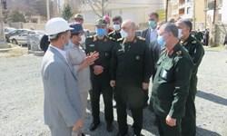 بازدید فرمانده کل سپاه از بیمارستان در حال ساخت شهید قاضی سنندج