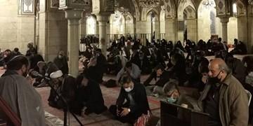 عزاداری شهادت امام کاظم (ع) در حرم ریحانةالحسین+عکس