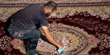 قالیشویی  نوروزی در شیراز