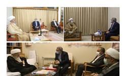 دیدار وزیر کشور با حضرات آیات مکارم شیرازی،صافی گلپایگانی و جوادی آملی