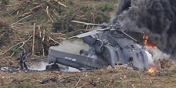 یک کشته و دو مجروح در پی بروز حادثه برای بالگرد روسی