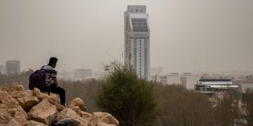 شیراز غرق در غبار