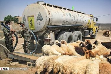 آبرسانی به روستای غیزانیه در خوزستان