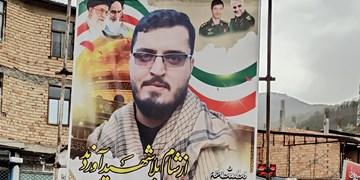 وداع باشکوه مردمی با پیکر شهید مدافع حرم در سوادکوه + عکس