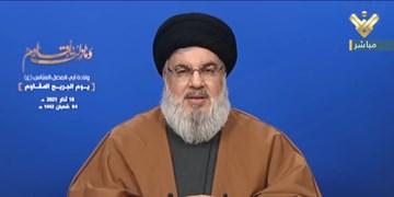 سید حسن نصرالله: برخی برای برافروختن آتش جنگ داخلی در لبنان به دنبال هیزم هستند