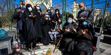 تحویل سال نو در گلزار شهدای همدان