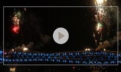 نورافشانی «پل طبیعت» به مناسبت سال نو