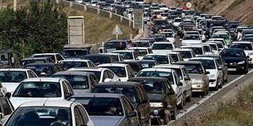 ترافیک سنگین در محور کرج-چالوس/ مسابقه برای رسیدن به کرونای شمالی!