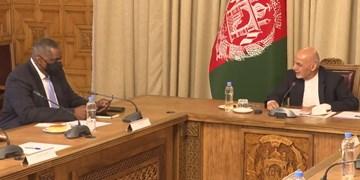 دیدار وزیر دفاع آمریکا با غنی؛ تاکید دو طرف بر صلح پایدار در افغانستان