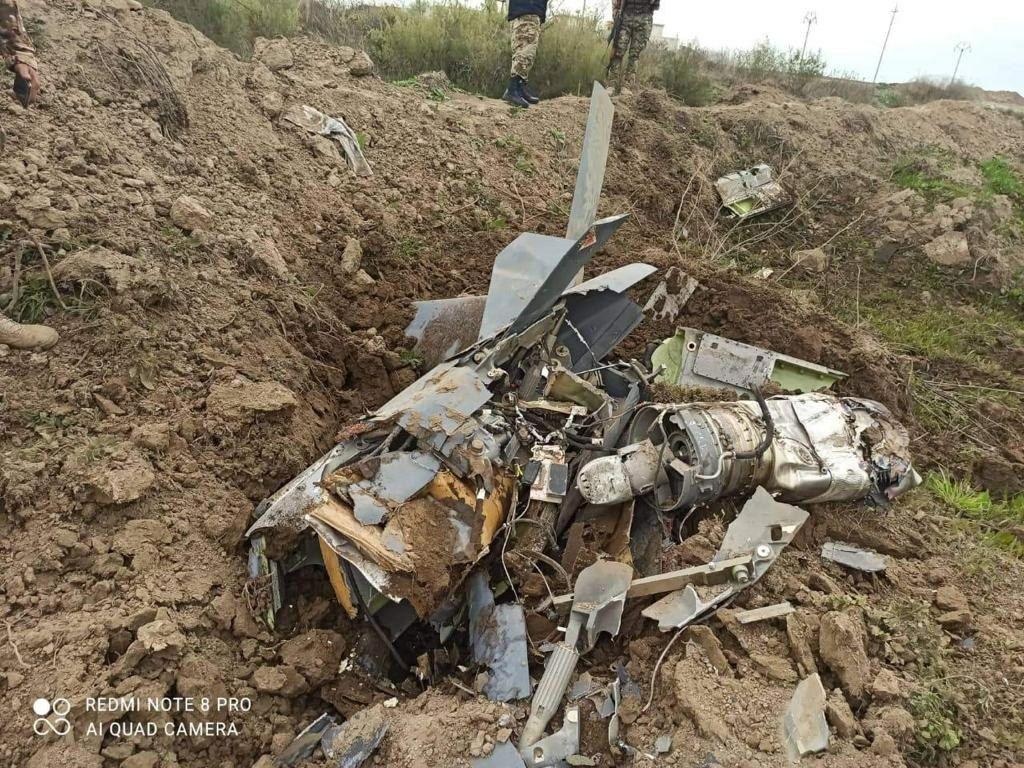 سرنگونی پهپاد آمریکایی در عراق با موشک/عکس