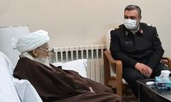 نیروی انتظامی مورد توجه و عنایت امام زمان (عج) است/ دعاگوی شما هستم