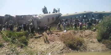 دستکم 32 کشته و دهها مجروح در پی برخورد دو قطار در مصر+فیلم
