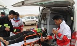امدادرسانی به ۱۷ حادثه دیده توسط امدادگران هلال احمر قم