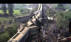 افزایش تلفات تصادف ۲ قطار در مصر