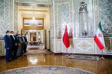 هیئت ایرانی در دیدار با «وانگ یی» وزیر امور خارجه چین در محل وزارت امورخارجه ایران