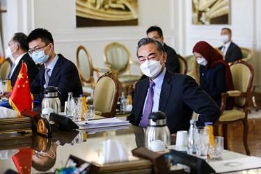 «وانگ یی» وزیر امور خارجه چین  در دیدار با «محمد جواد ظریف» وزیر امور خارجه در محل وزارت امورخارجه ایران