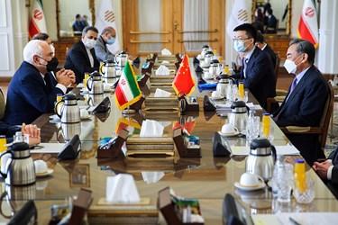 دیدا ر «وانگ یی» وزیر امور خارجه چین و  «محمد جواد ظریف» وزیر امور خارجه در محل وزارت امورخارجه ایران