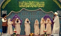جشن تکلیف دختران تازه مکلف از ۱۱ کشور اسلامی در حرم مطهر رضوی برگزار شد