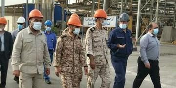 بازدید فرمانده تیپ عملیاتی ۳۹ بوشهر از پتروشیمی آبادان