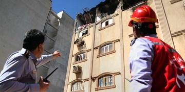 تخریب یک خانه مسکونی ||| بر اثر نشت و انفجار گاز