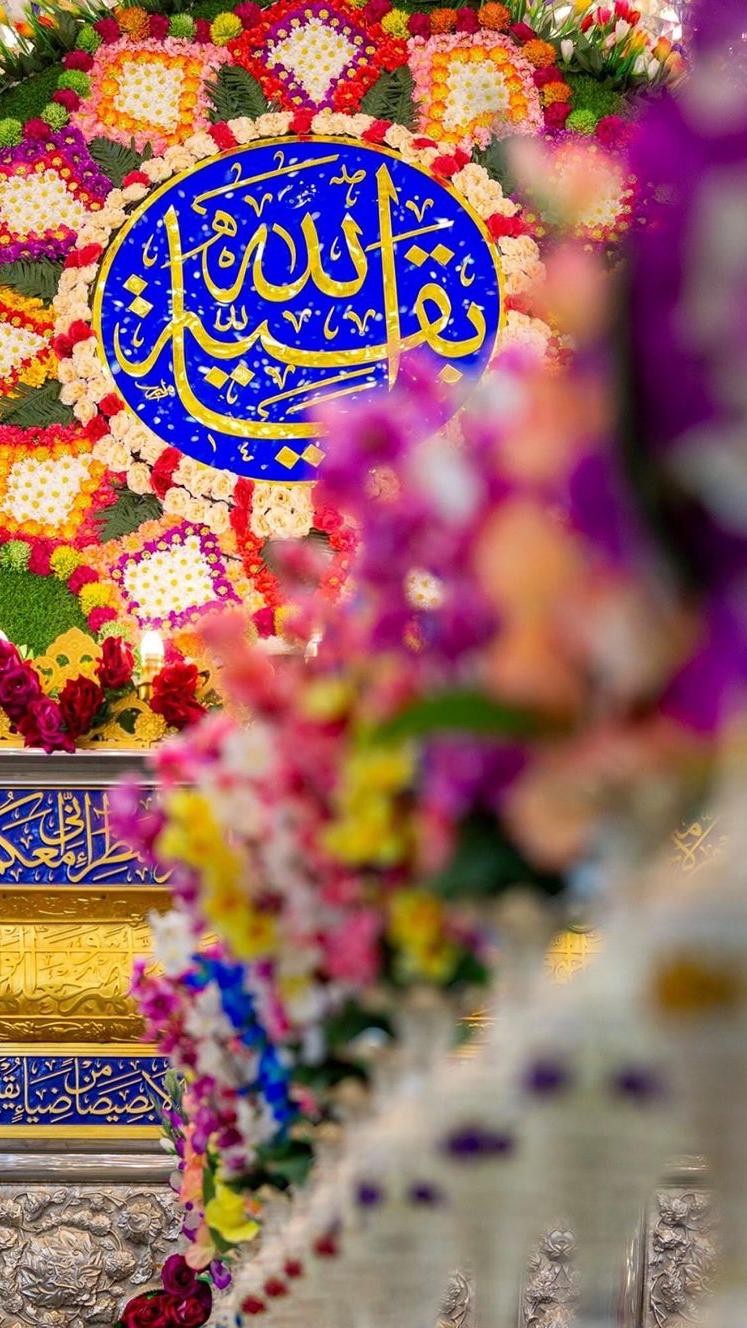 جشن تولد ۱۱۸۷ سالگی حضرت مهدی (عج) در کربلا+ عکس