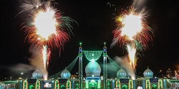 نورافشانی مسجد جمکران ||| در شب نیمه شعبان