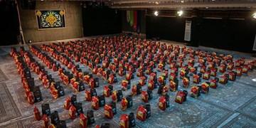 ۵۰۰ بسته ارزاق ریحانةالحسینیها به دست نیازمندان رسید