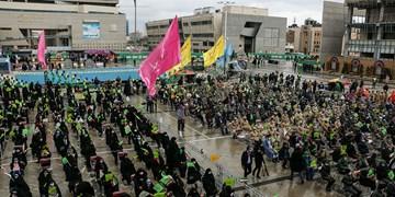 اجتماع منتظران ظهور در میدان شهدای مشهد