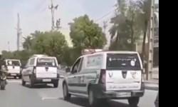 فیلم|رژه خودروهای حمل جنازه در اهواز