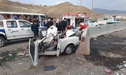 یک کشته و 5 زخمی در پی تصادف در محور کامیاران ـ سروآباد