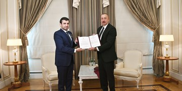 رئیسجمهور آذربایجان به داماد اردوغان نشان افتخار داد +عکس