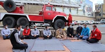 همزمان با روز طبیعت حضور آلهاشم در یکی از کلانتریها و آتشنشانیهای تبریز